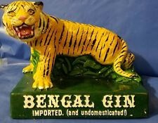 Bengal Gin Imported & Undomesticated Tiger Bar Bottle Display VINTAGE CHALKWARE