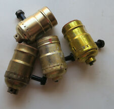 Lot of 4 socket part with switch key for Vintage Banquet boudoir lamp repair