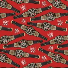 Springs WWE 61679 D650715 Heavy Weight Champion Belt Cotton Fabric BTY