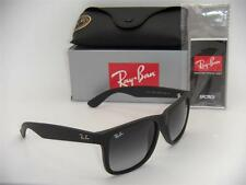 RAY-BAN JUSTIN RB 4165 601/8G 55MM RUBBER BLACK WITH GREY GRADIENT LENSES