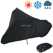 XXXL Black Motorcycle Cover Fit Harley Davidson Road King Custom FLHRS