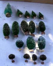 Department 56 Christmas Snow Village 17 Frosted Topiary Snow Trees and bushes