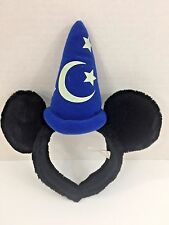 Disney Parks Fantasia Sorcerer Mickey Mouse Ears Headband Kids Costume Hat Soft