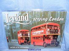 Metal Advertising Car Garage Sign Leyland London Bus Classic Car Tin Sign