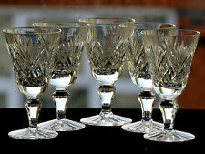 ROYAL DOULTON CRYSTAL -JUNO- PATTERN - SHERRY/LIQUEUR GLASSES - SET OF 5