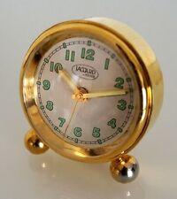 Petit réveil a pieds Polo 120100/1 métal doré chiffres lumineux Hilser (Jaccard)