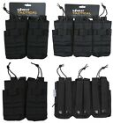 Army Combat Military Utility Duo Ammo Mag Magazine Pouch Double Triple Black