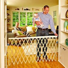 Expandable Swing Gate Fence Baby Kids Pet Safety Security Extra Wide Heavy Duty