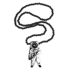 New Hip-hop fashion good wood nyc Necklace Astronaut Pendant