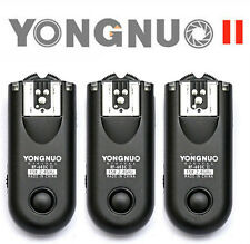 3 pcs Yongnuo RF-603 II for Canon wireless Transceivers C1 Cable Canon 300D 60D