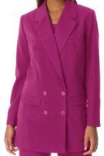 Women plus size 1X & 16W Raspberry Pink Double Breasted cardigan jacket blazer