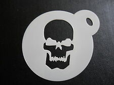Laser cut small skull design cake, cookie,craft & face painting stencil