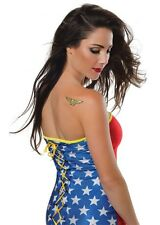 Wonder Woman Glitter Tattoo, Yellow, Rubies