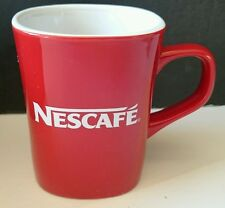 "NESCAFE COFFEE Mug Cup NIB RED  3.5"" Tall Nestle RARE Collectors LIMITED SUPPLY!"