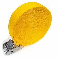 10 Buckled Straps 25mm Cam Buckle 5 meters Long Heavy Duty Load Yellow 250kg