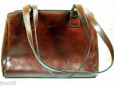 SAC A MAIN  AGNES FLO CUIR MARRON