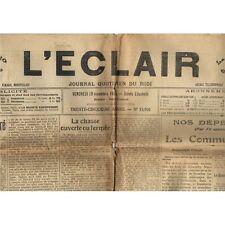 L'ÉCLAIR 19-11-1915 FOOTBALL à QUISSAC et SAUVE - Le Comité de l'Or de CARPENTRA