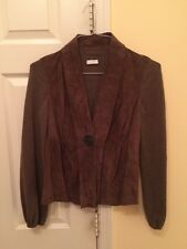 RIVAMONTI  LEATHER/SILK WOOL BLEND JACKET SIZE XS/S