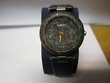 Vintage Tissot Rock Watch Rock watch Black New Battery-RUNS GREAT!  Swiss Quartz