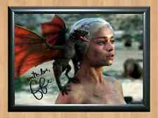 Emilia Clarke Khaleesi Game Of Thrones Signed Autographed A4 Print Poster Photo