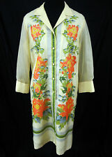 Alfred Shaheen Dress Size 16 Vintage 1960's Polyester Master Printer Hawaiian US