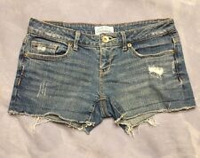 Aeropostale Distressed Destroyed Booty Short Shorts Size 1/2