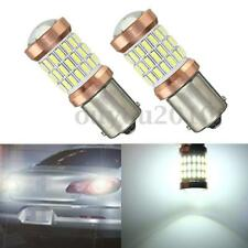 2x 1156 BA15S 60 LED 4014 SMD Car Tail Backup Reverse Light Bulb White DC 12-24V