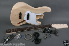 "DIY Electric Bass Guitar SJB Kit 864mm/ 34"", 20 Fret 2V, 1T JB-JB Pickup Bolt on"