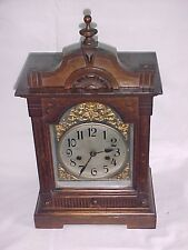 Victorian Oak Chiming Mantle Clock