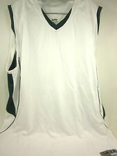 EASTBAY, EVAPOR, SUPER COURT GAME JERSEY, WHITE/GREEN, MENS, 2XL, POLYESTER, NEW