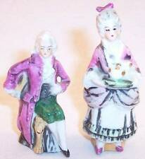 Vintage Pair of Small Lady and Gentleman Couple Victorian Figurines, Germany