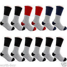 New 12 Pairs Mens Heavy Duty Tube Thermal Winter Warm Crew Socks Fits Size 9-15