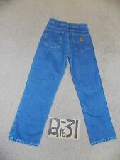 CARHARTT MENS RELAXED FLANNEL LINED JEANS TAGS 28X30-MEASURE NOW 29X30  #F109