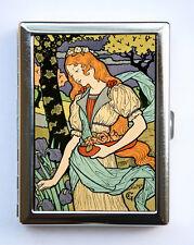 Art Nouveau Lady  Cigarette Case id case Wallet Business Card Holder Grasset