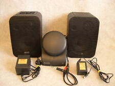RECOTON W400 WIRELESS TRANSMITTER COMPLETE w '2' STEREO SPEAKERS