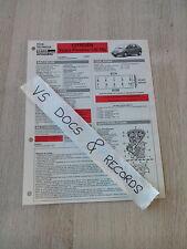FICHE TECHNIQUE AUTOMOBILE RTA CITROEN XSARA PICASSO 1.8 i 16 v(n°16)