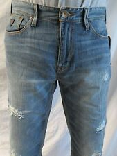 Guess Men Jeans 33 W x 32 Lincoln Distressed Slim Low Straight Brand New w/ Tags