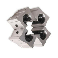4 Pcs SBR20UU 20mm Aluminum Open Linear Router Motion Bearing Solide Shaft Block