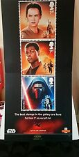 Star Wars  The Force Awakens' rare display stand for the Stamp post advertising