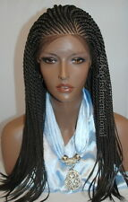 Fully hand braided lace front wig - faith color #2 in 20""