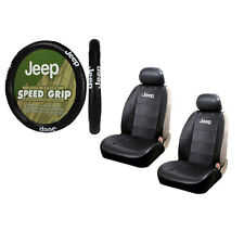 Brand New Jeep Elite Style Car Truck Universal Seat Covers Steering Wheel Cover