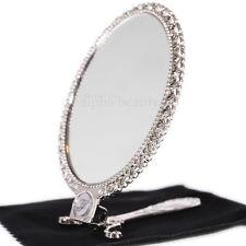 "Jill Stuart Japan 7¼"" 18.5cm Fold Compact Hand Mirror with Original Velvet Pouch"