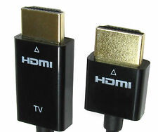 1m ACTIVE 18 Gbps Super Slim Small Head Hdmi Cable Lead 1080p 4k 2k ARC HEC 3D