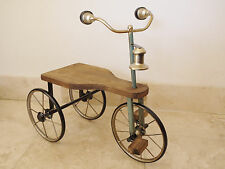 Vintage Old Antique Childs Tricycle Trike Decorative Ornament Wood & Metal 60cm