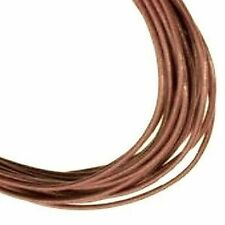 3 Meters of 1.5mm Brown Leather Thong Cord - C0002