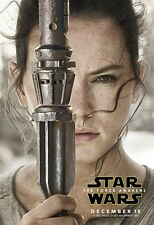 POSTER STAR WARS VII 7 100X70 THE FORCE AWAKENS KYLO REN DAISY RIDLEY REY BB8