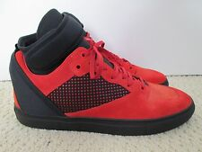 New Auth Balenciaga Red Suede Neoprene High Top Sneakers Shoes Sz 44 11 $795