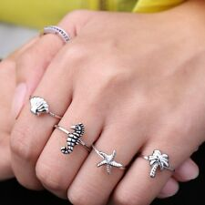 Fashion New Arrival Women Tree Knuckle Ring Starfish Hippocampus Shell Rings