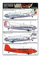 Kits World Decals 1/72 DOUGLAS C-47 DC-3 Military & Civilian Versions