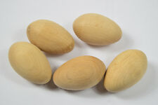 10 pcs of WOODEN EGGS turned 100% Natural Wood high quality craft painting plain